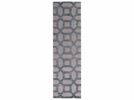 Surya Arise Medium Gray / Navy Sky Blue Runner Area Rug