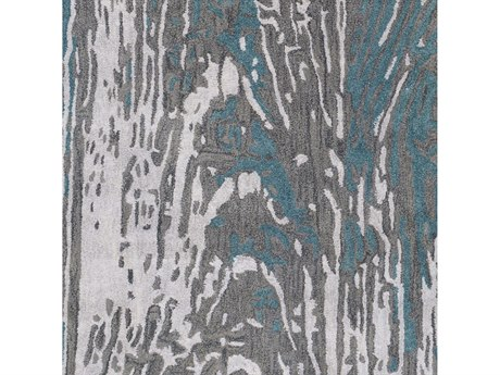 Surya Artist Studio Teal / Dark Brown Black Light Gray Silver Square Sample
