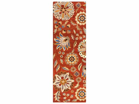 Surya Athena 2'6'' x 8' Rectangular Red Runner Rug