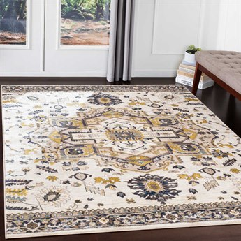 Surya Athens Camel / Navy Ivory Sky Blue Butter Charcoal White Rectangular Area Rug