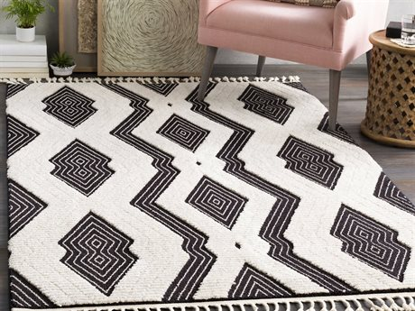 Surya Azilal Black / Ivory Rectangular Area Rug