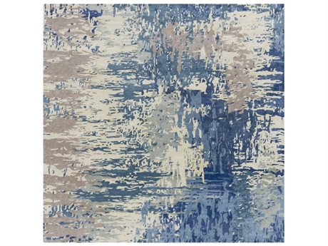 Surya Banshee Dark Blue / Cream Square Area Rug