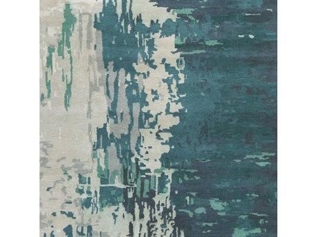 Surya Banshee Teal / Sage Ivory White Square Sample
