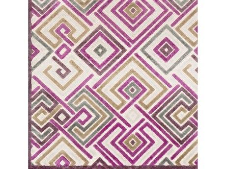 Surya Basilica Bright Purple / Butter Beige Taupe Medium Gray Mauve Square Sample