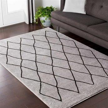 Surya Baylee Medium Gray / Black Rectangular Area Rug
