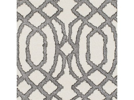 Surya Baylee Cream / Medium Gray Dark Brown Square Sample