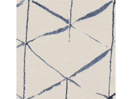 Surya Baylee Cream / Bright Blue Dark Square Sample