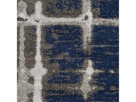 Surya Baylee Dark Blue / Medium Gray Brown Square Sample