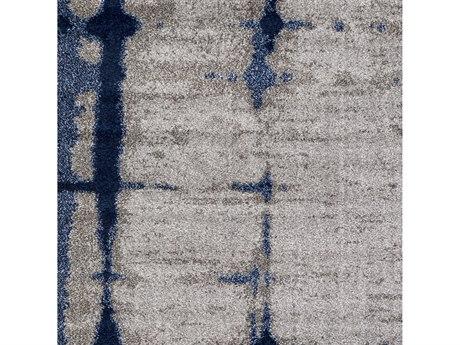 Surya Baylee Silver Gray / Sky Blue Dark Brown Square Sample