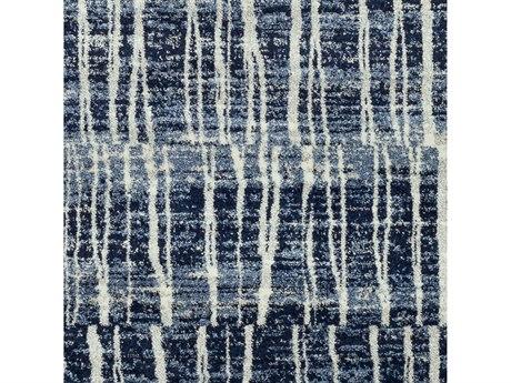 Surya Baylee Dark Blue / Bright Cream Silver Gray Square Sample