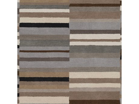 Surya Beck Camel / Charcoal / Cream Square Sample