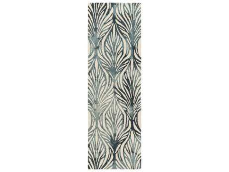 Surya Belladonna 2'6'' x 8' Rectangular Teal Runner Rug