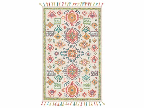 Surya Bonifate Dark Coral / Teal / Cream / Lime Rectangular Area Rug