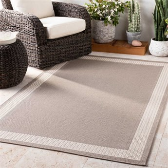 Surya Breeze Charcoal / Taupe White Rectangular Area Rug