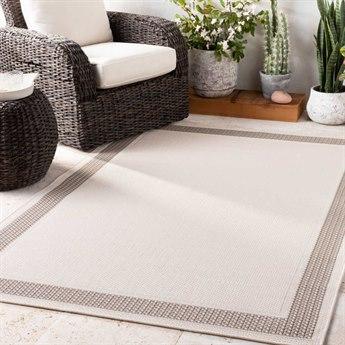 Surya Breeze Charcoal / Taupe / White Rectangular Area Rug