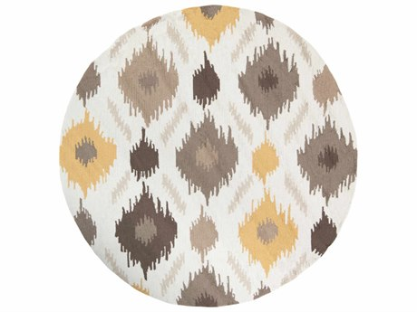 Surya Brentwood Round White Area Rug SYBNT7676ROU