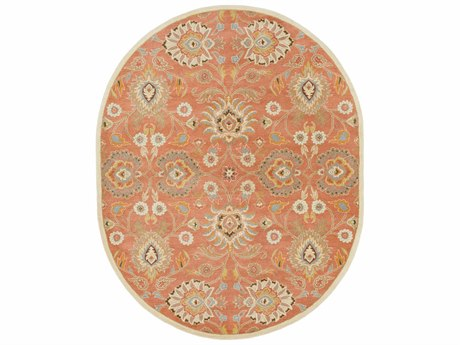 Surya Caesar Oval Orange Area Rug