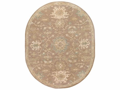 Surya Caesar Oval Camel, Medium Gray & Light Gray Area Rug