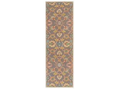 Surya Caesar Burnt Orange / Teal Mustard Taupe Dark Green Runner Area Rug