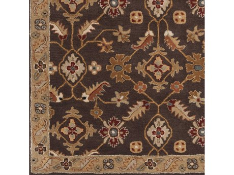Surya Caesar Dark Brown / Camel Wheat Khaki Medium Gray Rust Black Charcoal Square Sample