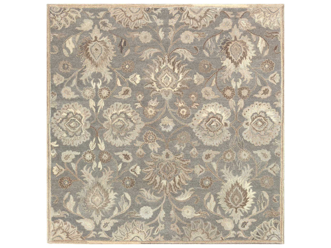 Surya Caesar Taupe Camel Cream Light Gray Dark Brown Square Area Rug