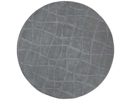 Surya Candice Olson Sculpture 8' Round Gray Area Rug SYSCU7506ROU