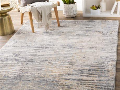 Surya Cash Denim / Charcoal / Light Gray Rectangular Area Rug