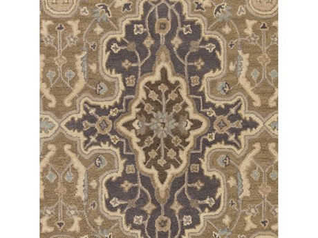 Surya Castello Taupe / Camel Khaki Medium Gray Square Sample