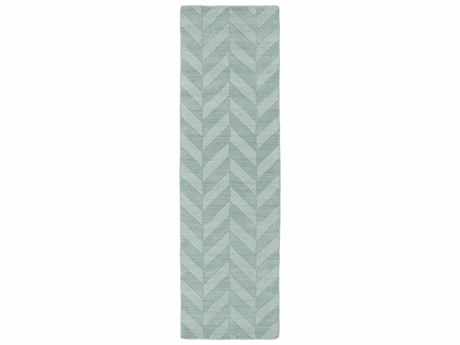 Surya Central Park Ice Blue / Sage Runner Area Rug