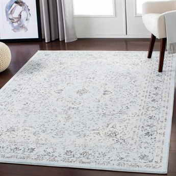 Surya Chelsea Pale Blue / Medium Gray / White Rectangular Area Rug