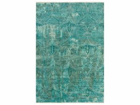 Surya Cheshire Rectangular Aqua, Teal & Emerald Area Rug SYCSH6003REC