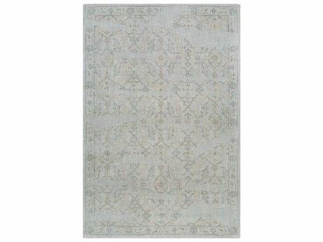 Surya Christie Medium Gray / Sage Teal Khaki Tan Rectangular Area Rug