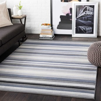 Surya City Light Gray / Taupe / Black / Beige Rectangular Area Rug