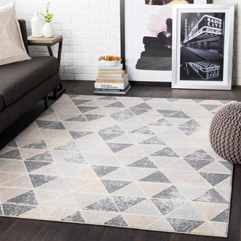 Surya City Taupe / Light Gray / Beige Rectangular Area Rug