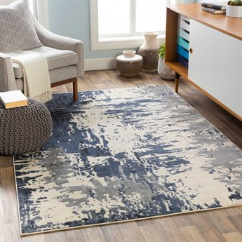 Surya City Charcoal / Black / Beige Rectangular Area Rug
