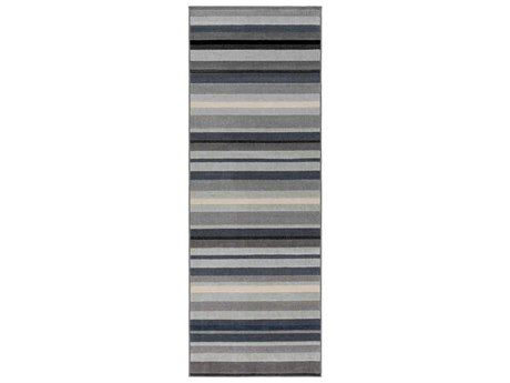 Surya City Light Gray / Taupe Black Charcoal Beige Runner Area Rug