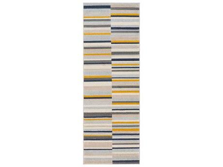 Surya City Mustard / Charcoal / Light Gray / Beige Runner Area Rug