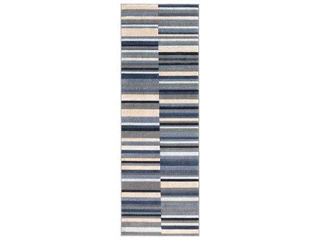 Surya City Taupe / Charcoal Khaki Light Gray Black Runner Area Rug