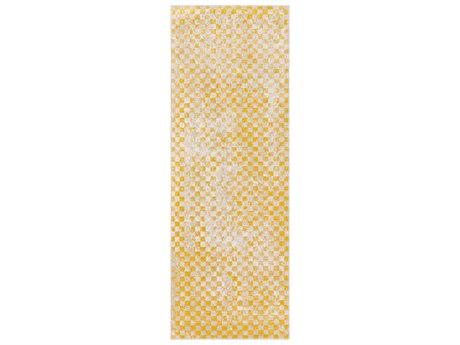 Surya City Mustard / Beige Khaki Runner Area Rug