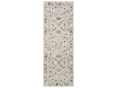 Surya City Taupe / Black / Beige Runner Area Rug
