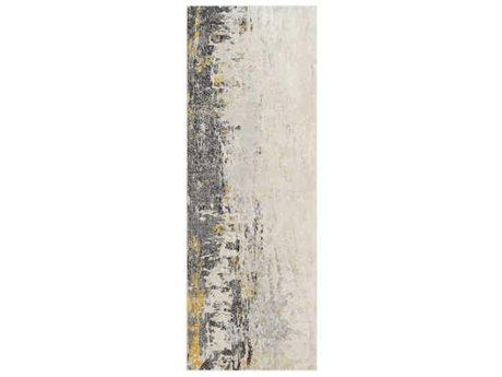 Surya City Taupe / Black / Light Gray Runner Area Rug