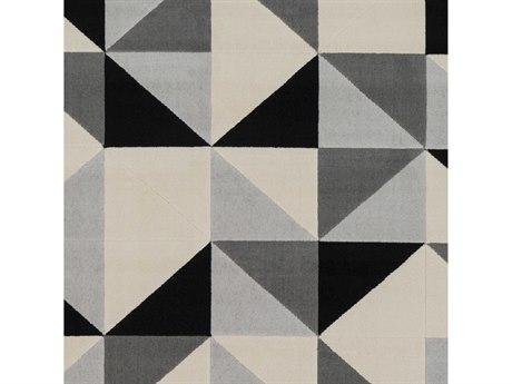 Surya City Black / Beige / Light Gray / Taupe Square Sample