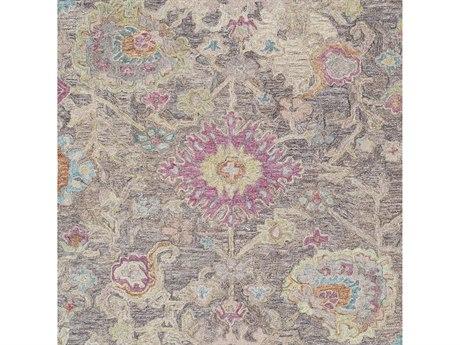 Surya Classic Nouveau Moss / Camel / Medium Gray / Mauve Square Sample