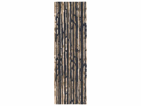 Surya Modern Classics Rectangular Black, Cream & Tan Runner Rug