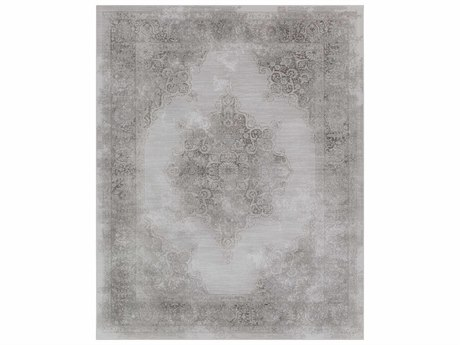 Surya Contempo Rectangular Medium Gray & Light Gray Area Rug