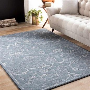 Surya Contempo Rectangular White, Pale Blue & Denim Area Rug