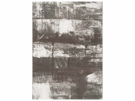 Surya Contempo Dark Brown / White Cream Black Runner Area Rug