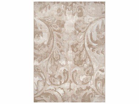 Surya Contempo White / Cream Dark Brown Khaki Runner Area Rug