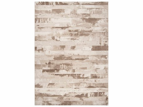 Surya Contempo White / Cream Dark Brown Runner Area Rug