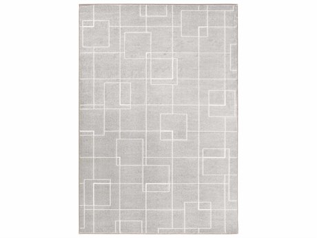 Surya Contempo Medium Gray / Light White Runner Area Rug